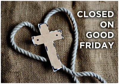 FDC Graphic Films is Closed on Good Friday, April 10, 2020