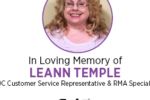We Sadly Announce the Passing of Leann Temple
