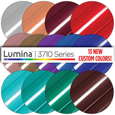 13 New Custom Colors Added to Lumina® 3710 Series