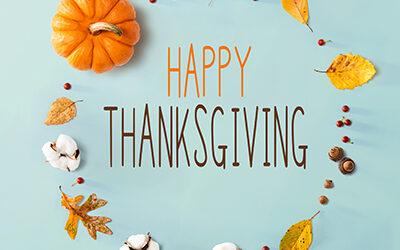 Thanksgiving Closure November 26-27
